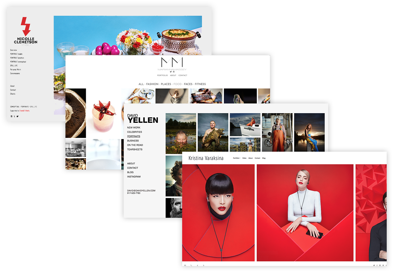 photography website examples
